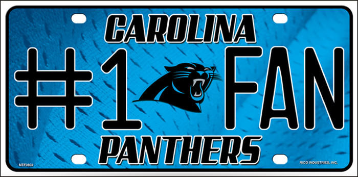 Carolina Panthers Fan Metal Novelty License Plate LP-704