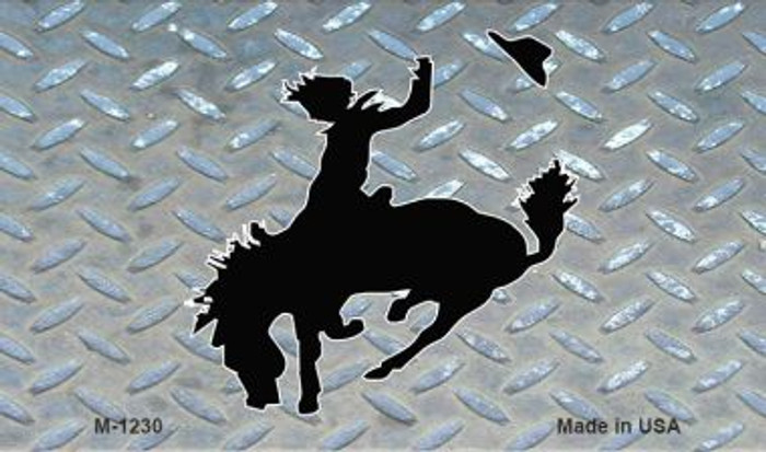 Bucking Bronco Diamond Novelty Metal Magnet M-1230