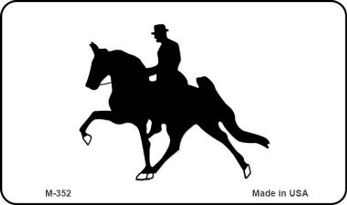 Horse With Rider Novelty Metal Magnet M-352