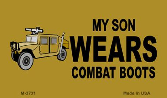 Son Wears Combat Boots Novelty Metal Magnet M-3731