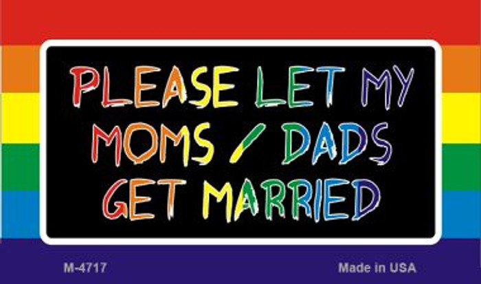 Get Married Rainbow Novelty Metal Magnet M-4717