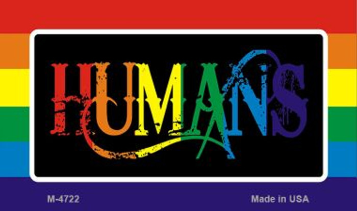 Humans Rainbow Novelty Metal Magnet M-4722