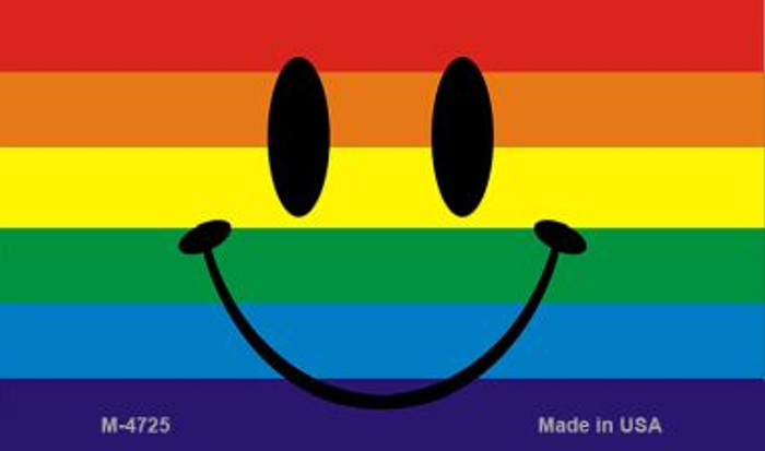 Smiley Face Rainbow Novelty Metal Magnet M-4725
