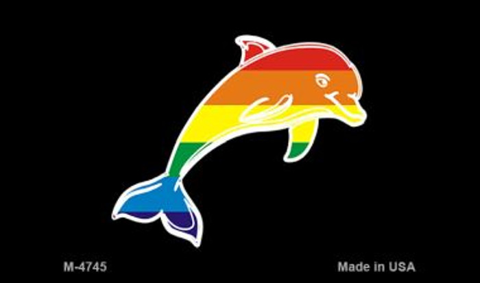 Dolphin Rainbow Novelty Metal Magnet M-4745