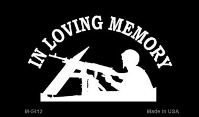 In Loving Memory Lookout Novelty Metal Magnet M-5412