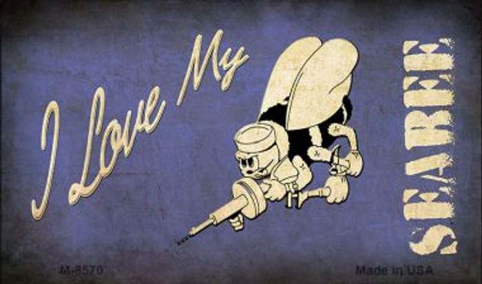 I Love My Seabee Novelty Metal Magnet M-8570