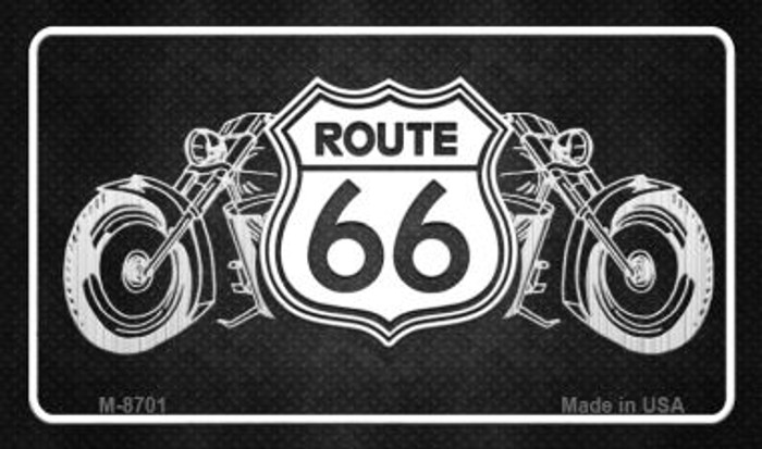 Route 66 Bikes Novelty Metal Magnet M-8701
