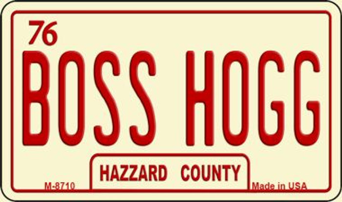 Boss Hogg Hazzard County Novelty Metal Magnet M-8710