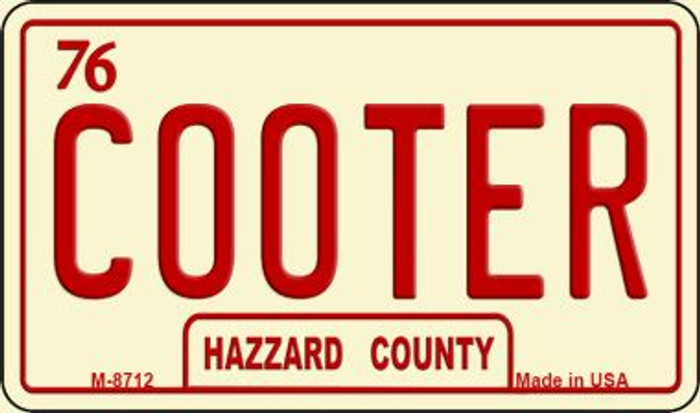 Cooter Novelty Metal Magnet M-8712