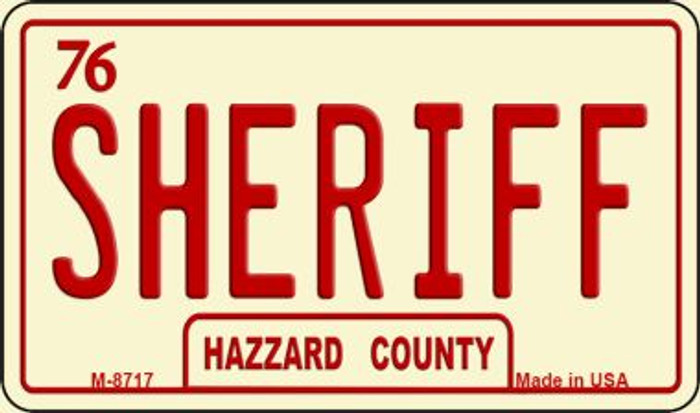 Sheriff Novelty Metal Magnet M-8717