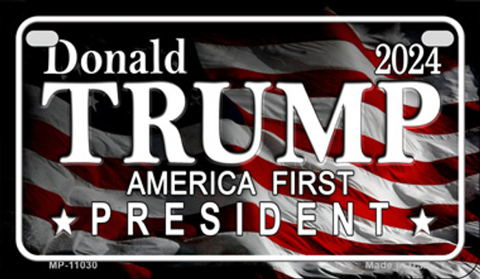 America First President Trump Novelty Metal Motorcycle Plate MP-11030