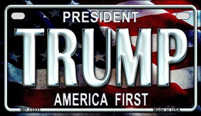 America First Trump Novelty Metal Motorcycle Plate MP-11031