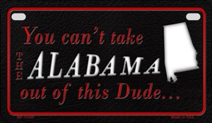 Alabama Dude  Novelty Metal Motorcycle Plate MP-11255