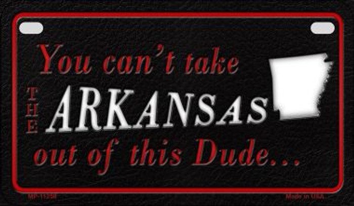 Arkansas Dude Novelty Metal Motorcycle Plate MP-11258
