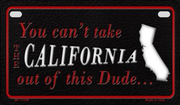 California Dude Novelty Metal Motorcycle Plate MP-11259