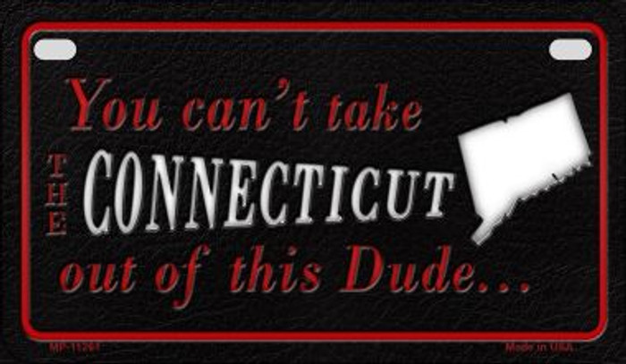 Connecticut Dude Novelty Metal Motorcycle Plate MP-11261