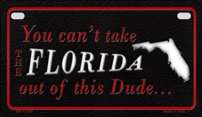 Florida Dude Novelty Metal Motorcycle Plate MP-11263