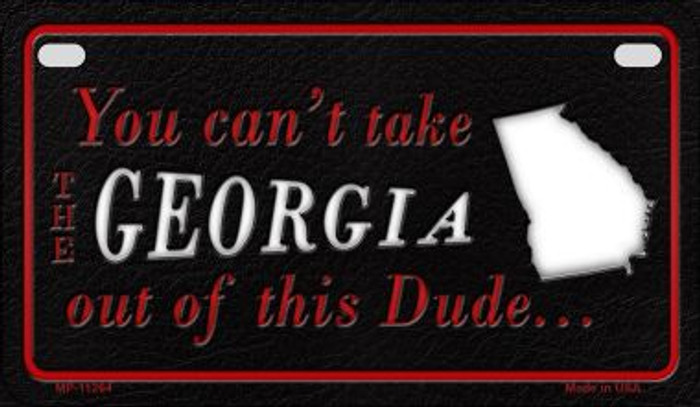 Georgia Dude Novelty Metal Motorcycle Plate MP-11264