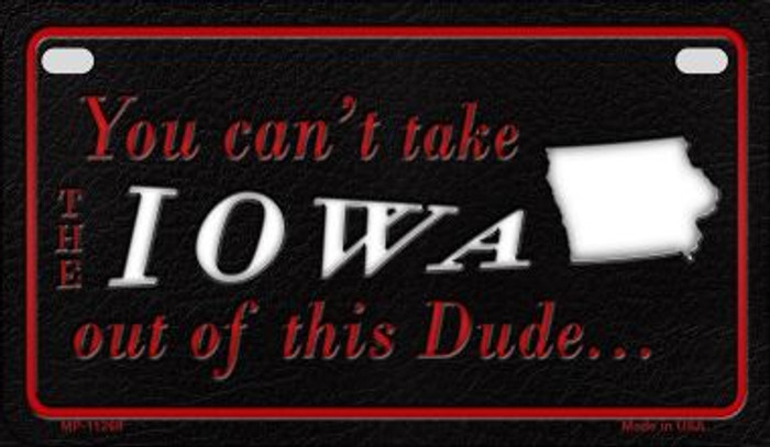 Iowa Dude Novelty Metal Motorcycle Plate MP-11269