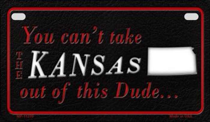 Kansas Dude Novelty Metal Motorcycle Plate MP-11270