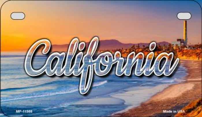 California Beach Novelty Metal Motorcycle Plate MP-11588