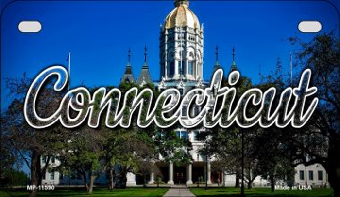 Connecticut Capital Building Novelty Metal Motorcycle Plate MP-11590