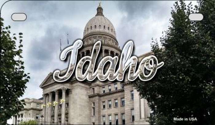 Idaho Capital Building Novelty Metal Motorcycle Plate MP-11596