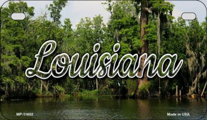 Louisiana Swamp Novelty Metal Motorcycle Plate MP-11602
