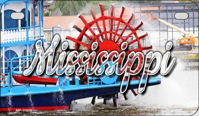 Mississippi Boat Novelty Metal Motorcycle Plate MP-11609