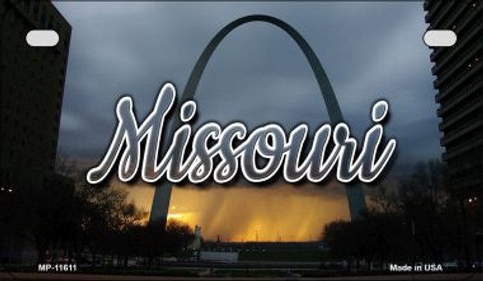 Missouri Gateway Arch Novelty Metal Motorcycle Plate MP-11611