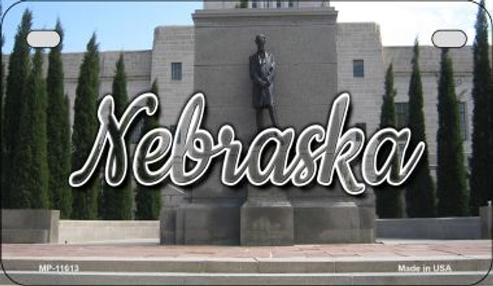 Nebraska Capital Building Novelty Metal Motorcycle Plate MP-11613
