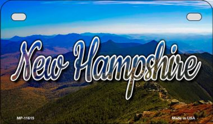 New Hampshire Mountain Range Novelty Metal Motorcycle Plate MP-11615
