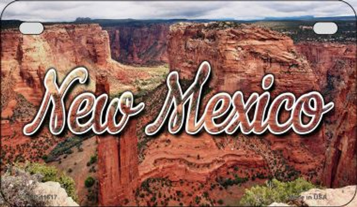 New Mexico Red Canyon Novelty Metal Motorcycle Plate MP-11617