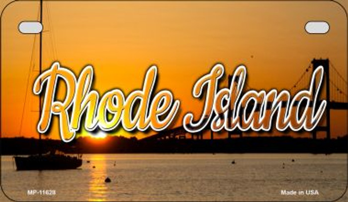 Rhode Island River Sunset Novelty Metal Motorcycle Plate MP-11628