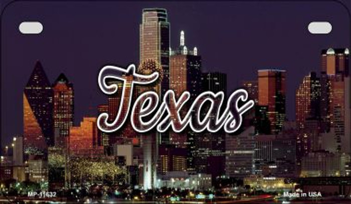 Texas City Lights Novelty Metal Motorcycle Plate MP-11632