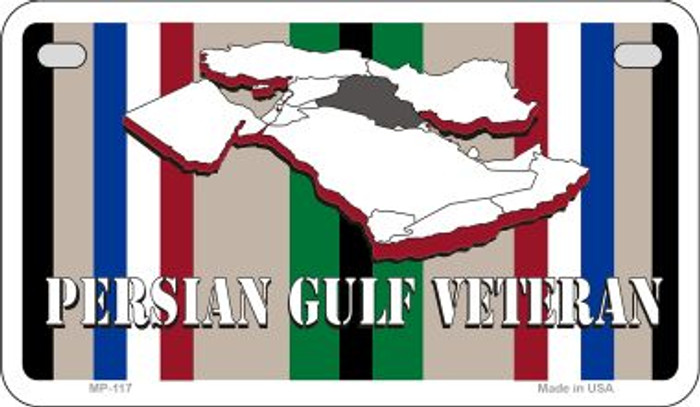 Persian Gulf Verteran Novelty Metal Motorcycle Plate MP-117