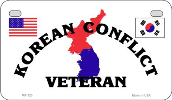 Korean Conflict Veteran Novelty Metal Motorcycle Plate MP-120