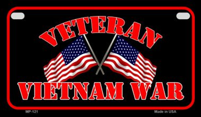 Vietnam War Veteran Novelty Metal Motorcycle Plate MP-121