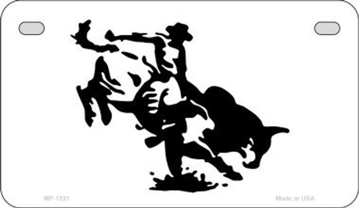 Bull Rider Novelty Metal Motorcycle Plate MP-1231