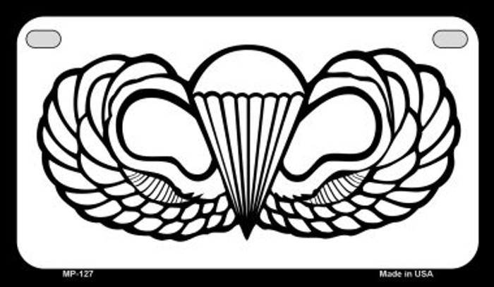Parachute Badge Novelty Metal Motorcycle Plate MP-127