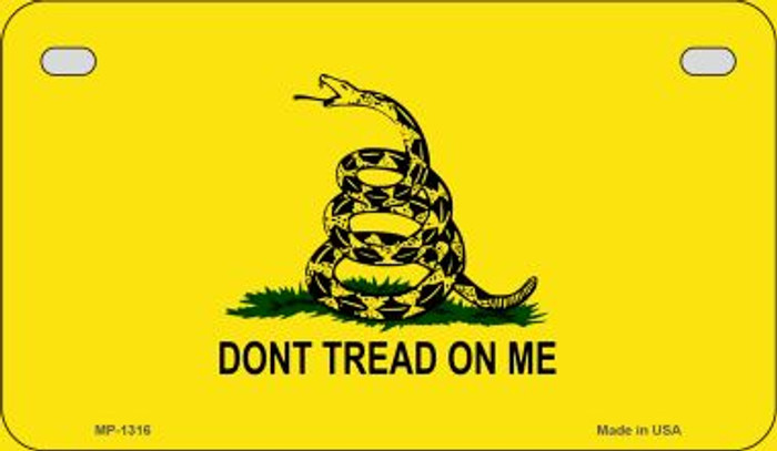 Dont Tread On Me Novelty Metal Motorcycle Plate MP-1316
