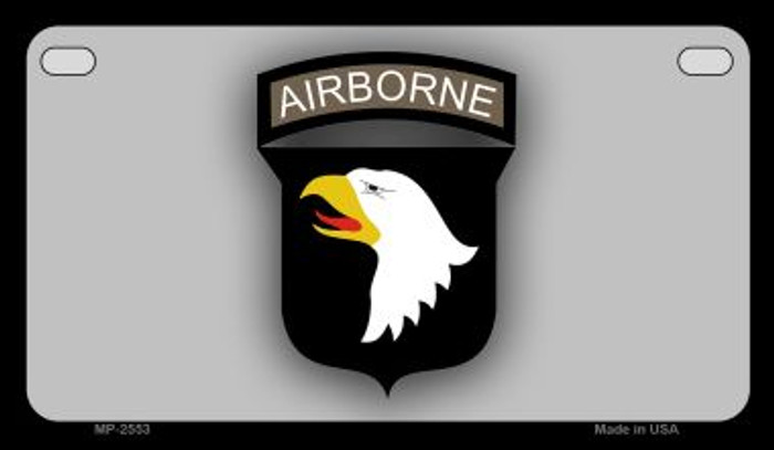Airborne Eagle Novelty Metal Motorcycle Plate MP-2553