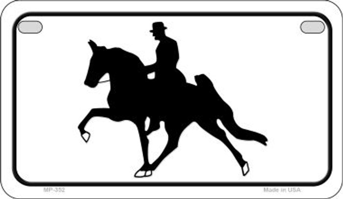 Horse With Rider Novelty Metal Motorcycle Plate MP-352