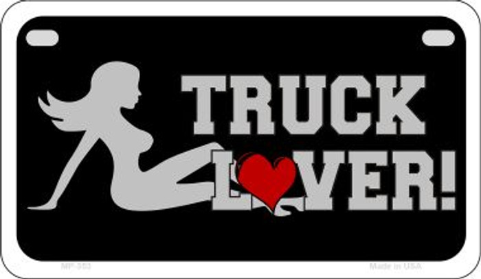 Truck Lover Girl Novelty Metal Motorcycle Plate MP-353