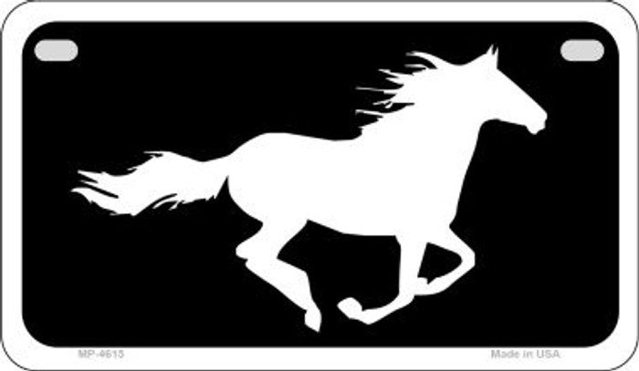 Running Horse Novelty Metal Motorcycle Plate MP-4615