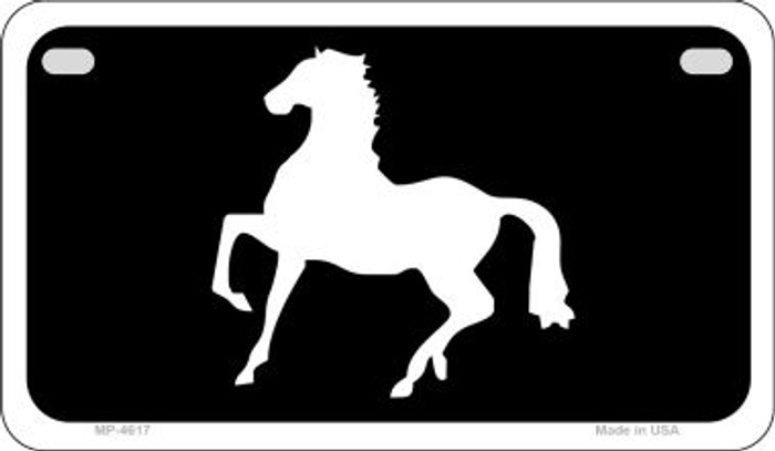 Horse Prancing Novelty Metal Motorcycle Plate MP-4617