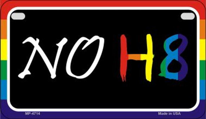 NO H8 Rainbow Novelty Metal Motorcycle Plate MP-4714
