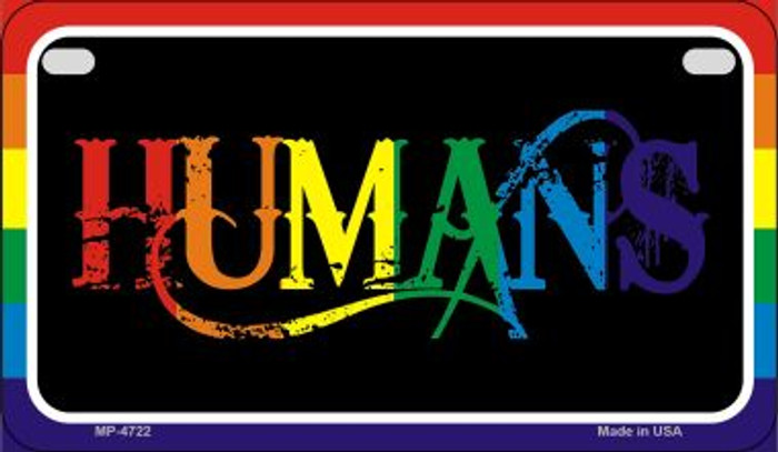 Humans Rainbow Novelty Metal Motorcycle Plate MP-4722