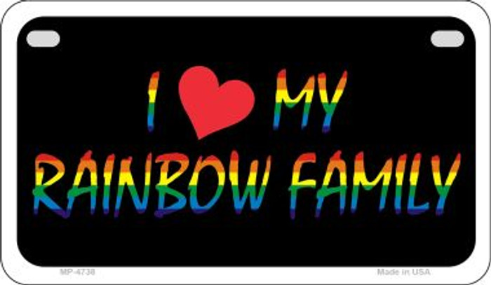Rainbow Family  Novelty Metal Motorcycle Plate MP-4738