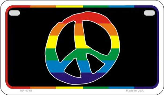 Peace Rainbow Novelty Metal Motorcycle Plate MP-4748
